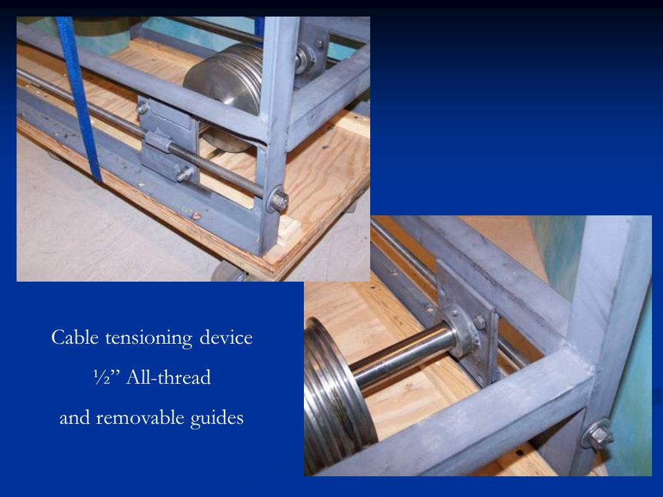 Cable tensioning device