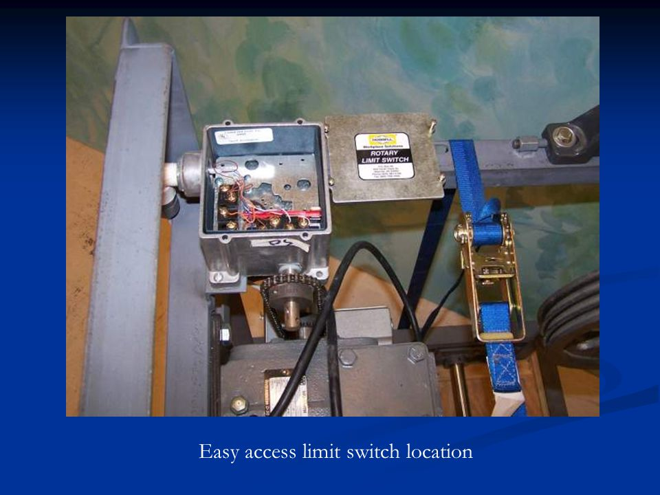 Easy access limit switch location