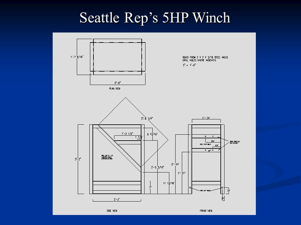 Seattle Rep's 5HP Winch