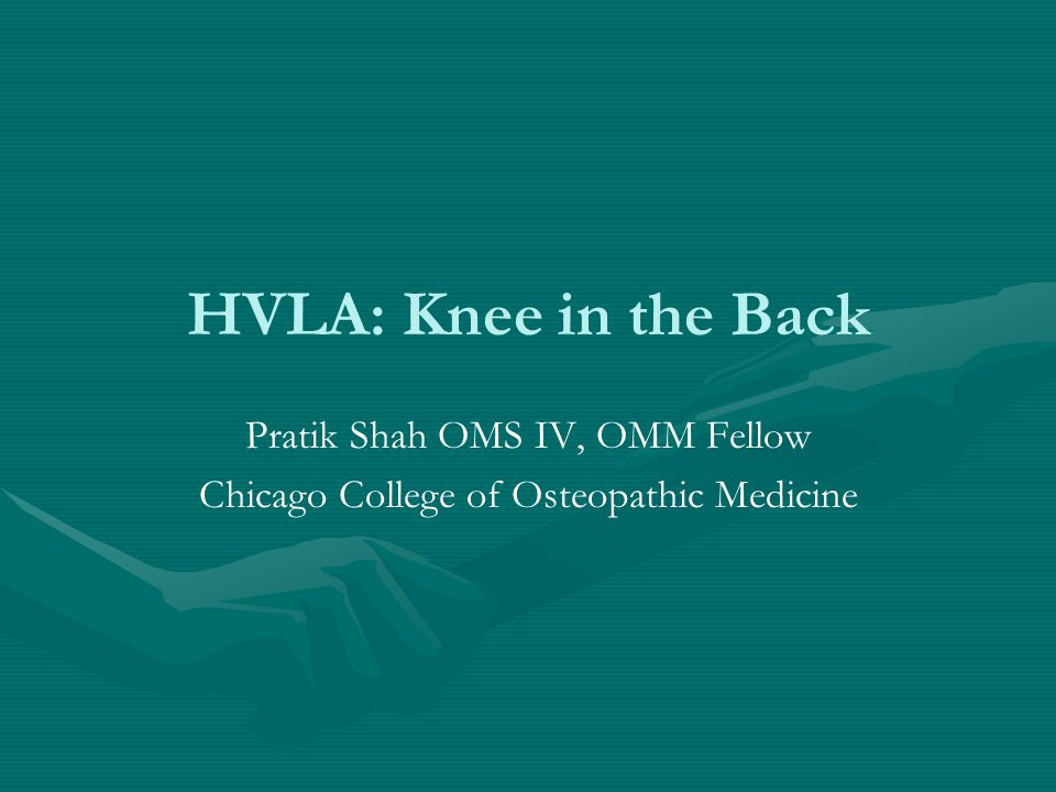 Pratik Shah OMS IV, OMM Fellow Chicago College of Osteopathic Medicine