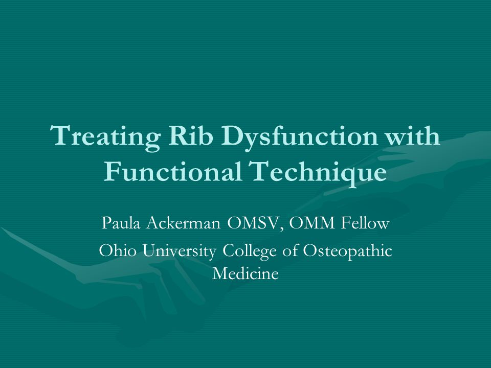 Treating Rib Dysfunction with Functional Technique