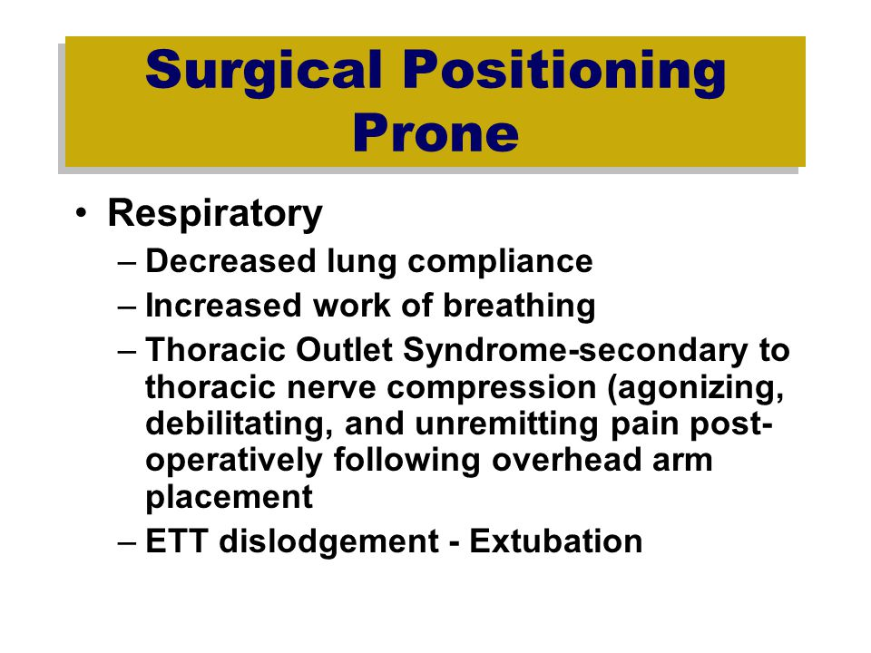 Surgical Positioning Prone
