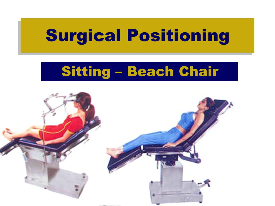 Surgical Positioning Sitting – Beach Chair