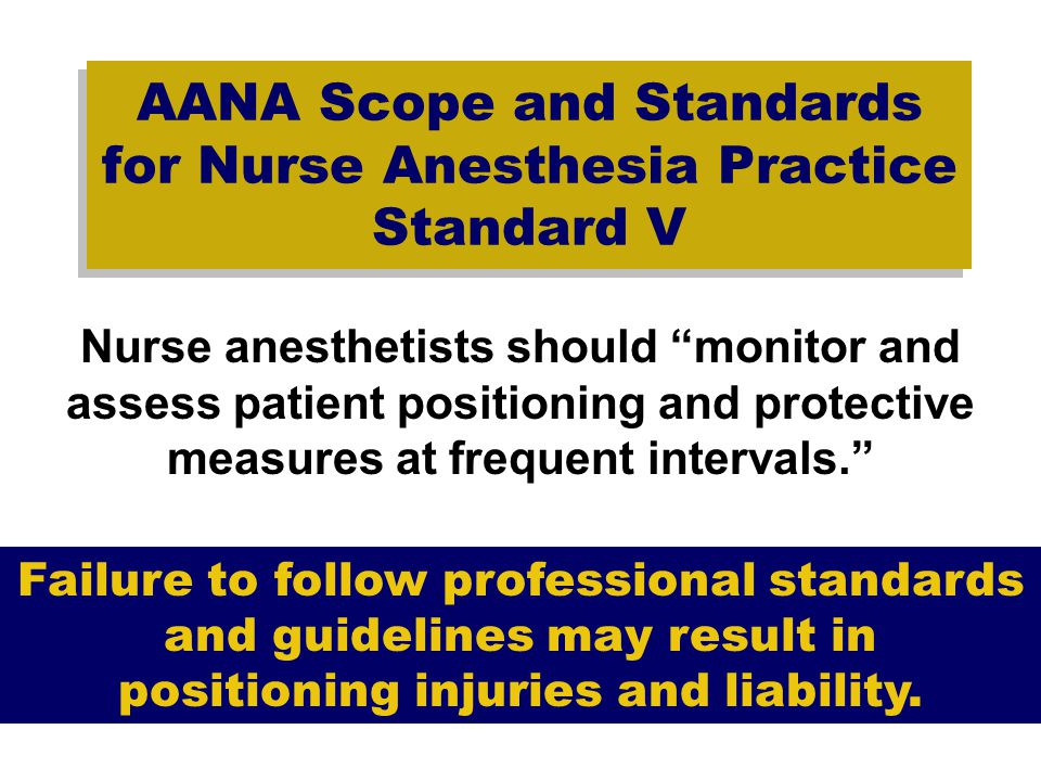 AANA Scope and Standards for Nurse Anesthesia Practice Standard V