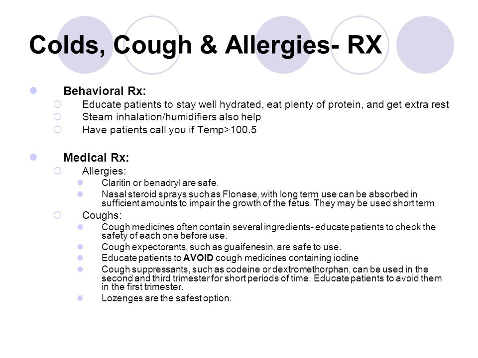 Colds, Cough & Allergies- RX