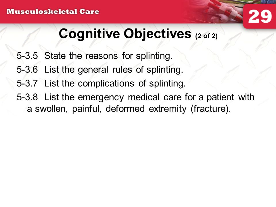 Cognitive Objectives (2 of 2)