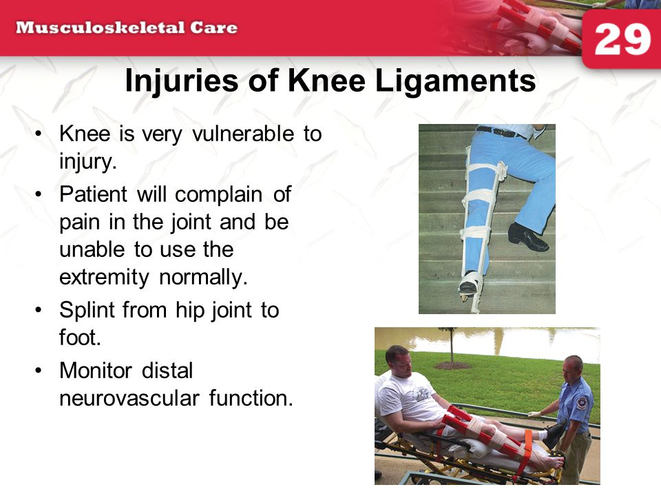 Injuries of Knee Ligaments