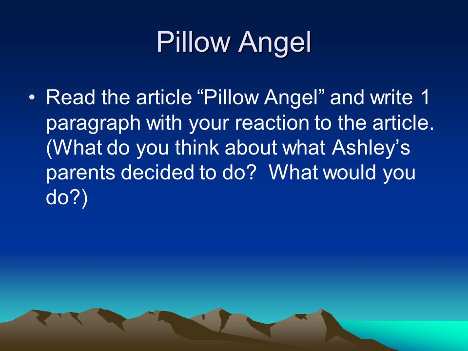 Pillow Angel