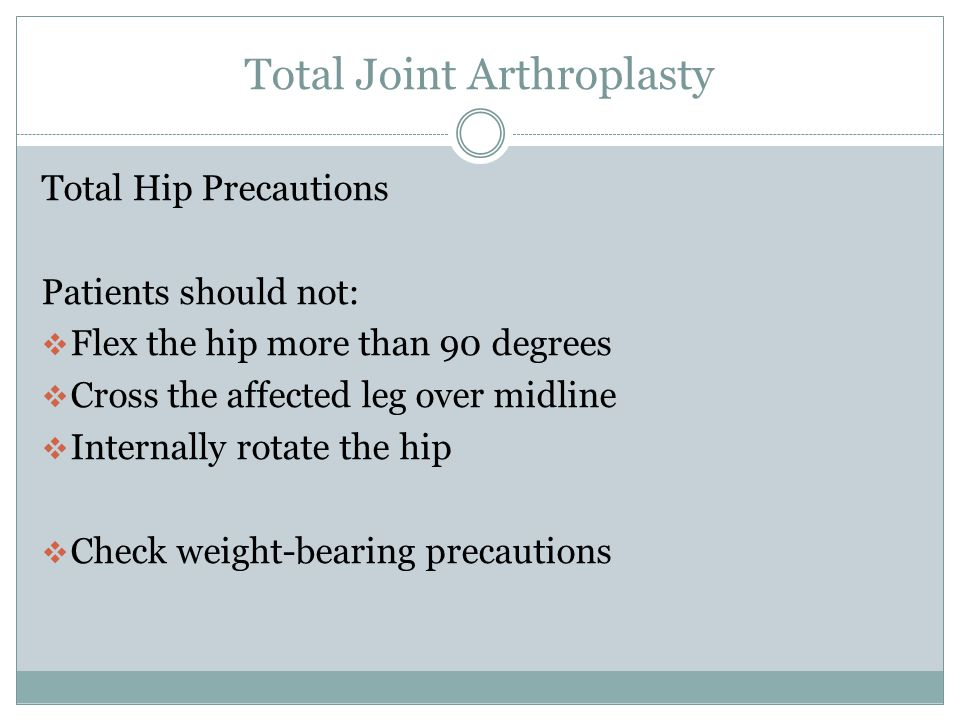 Total Joint Arthroplasty