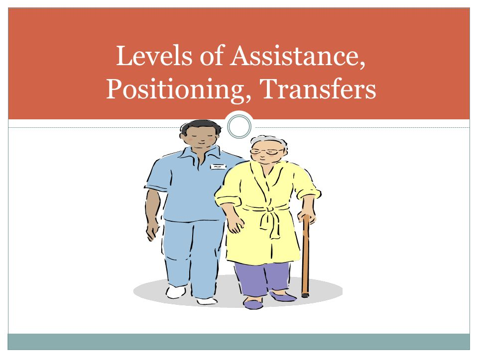 Levels of Assistance, Positioning, Transfers