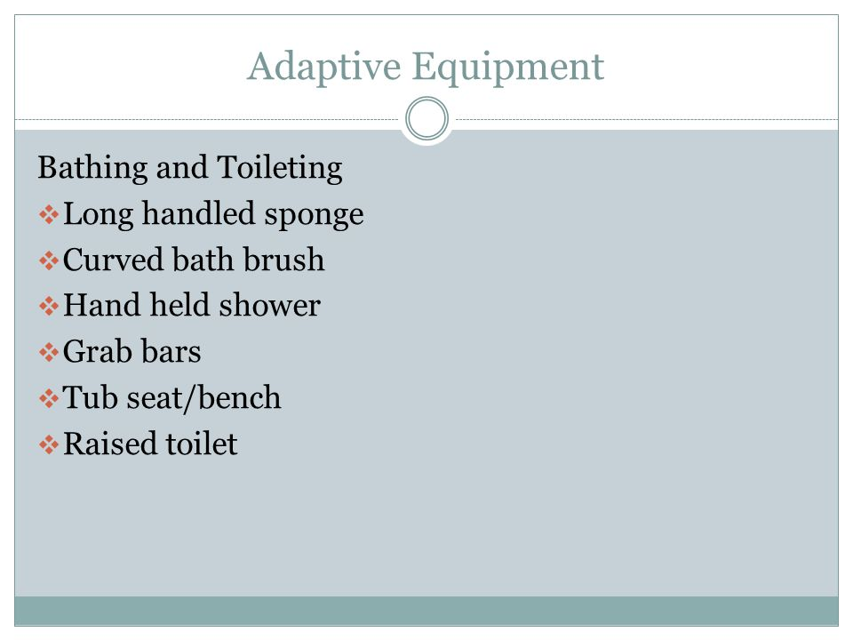 Adaptive Equipment Bathing and Toileting Long handled sponge