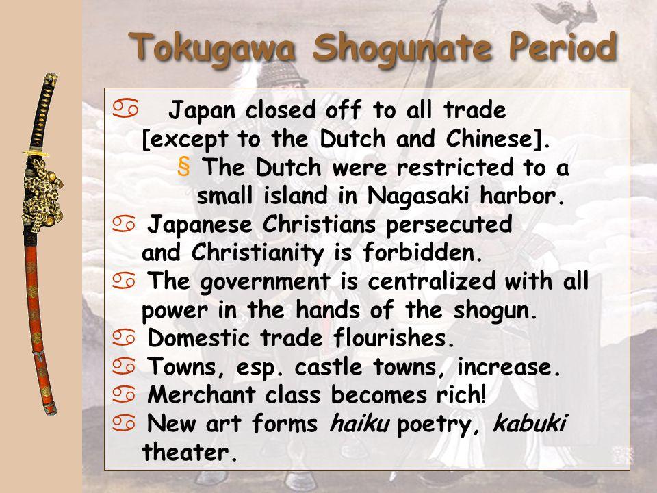 Tokugawa Shogunate Period