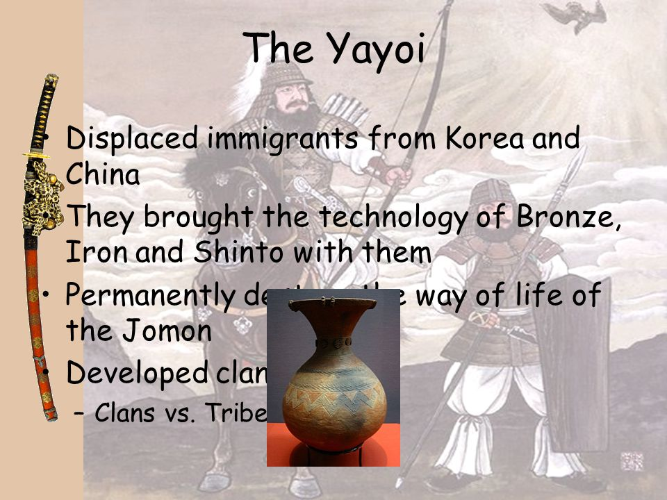 The Yayoi Displaced immigrants from Korea and China