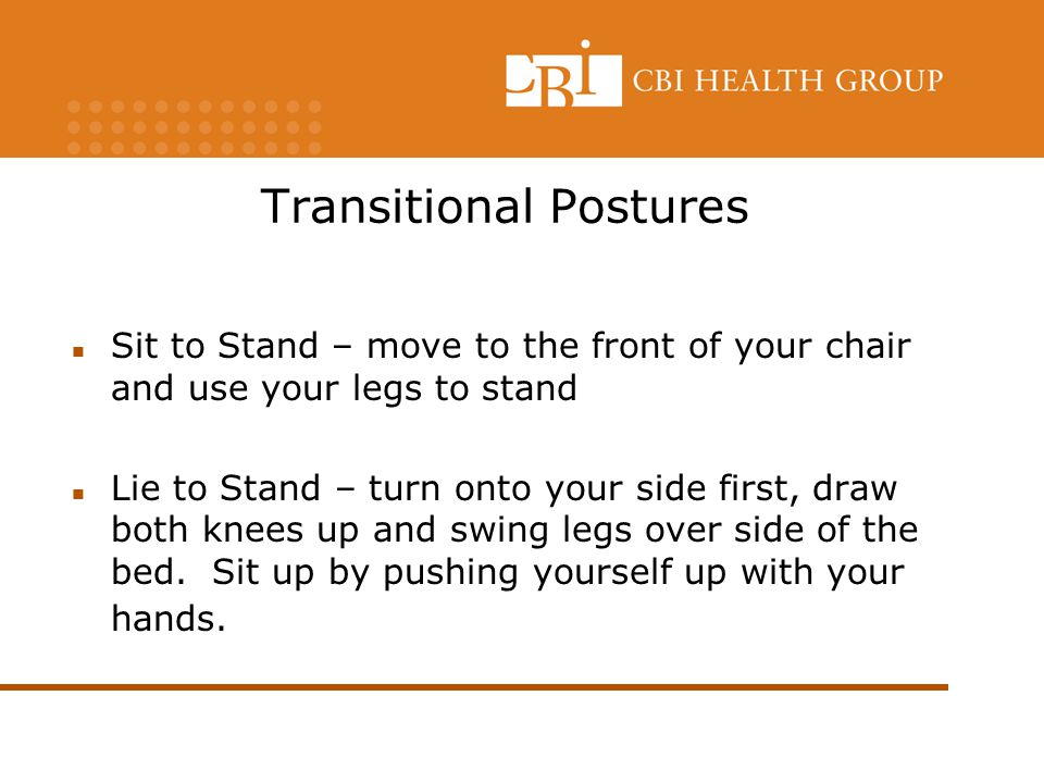 Transitional Postures