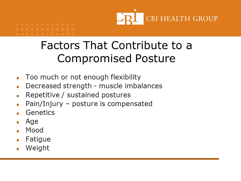 Factors That Contribute to a Compromised Posture