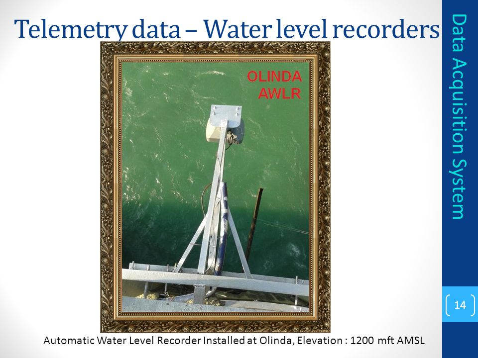 Telemetry data – Water level recorders
