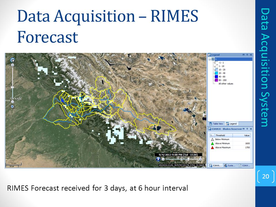 Data Acquisition – RIMES Forecast