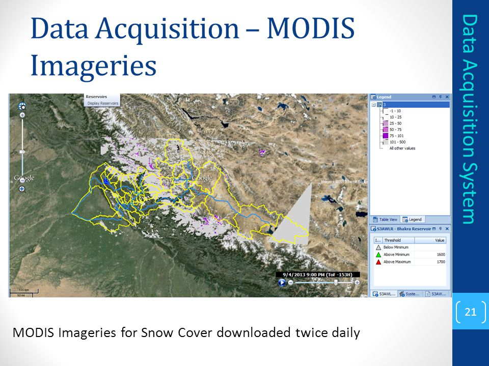 Data Acquisition – MODIS Imageries