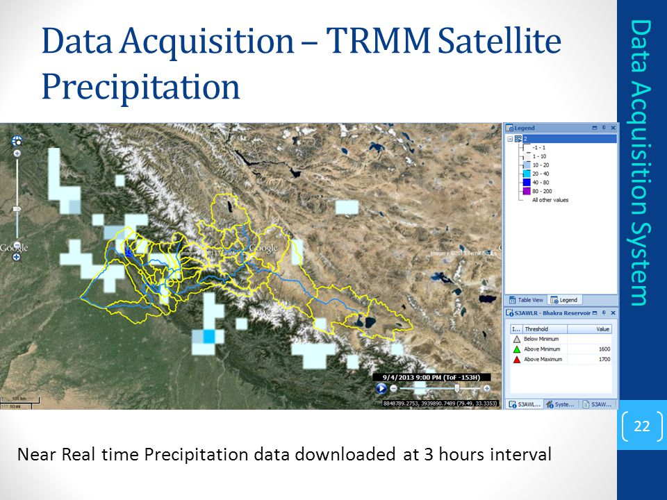 Data Acquisition – TRMM Satellite Precipitation