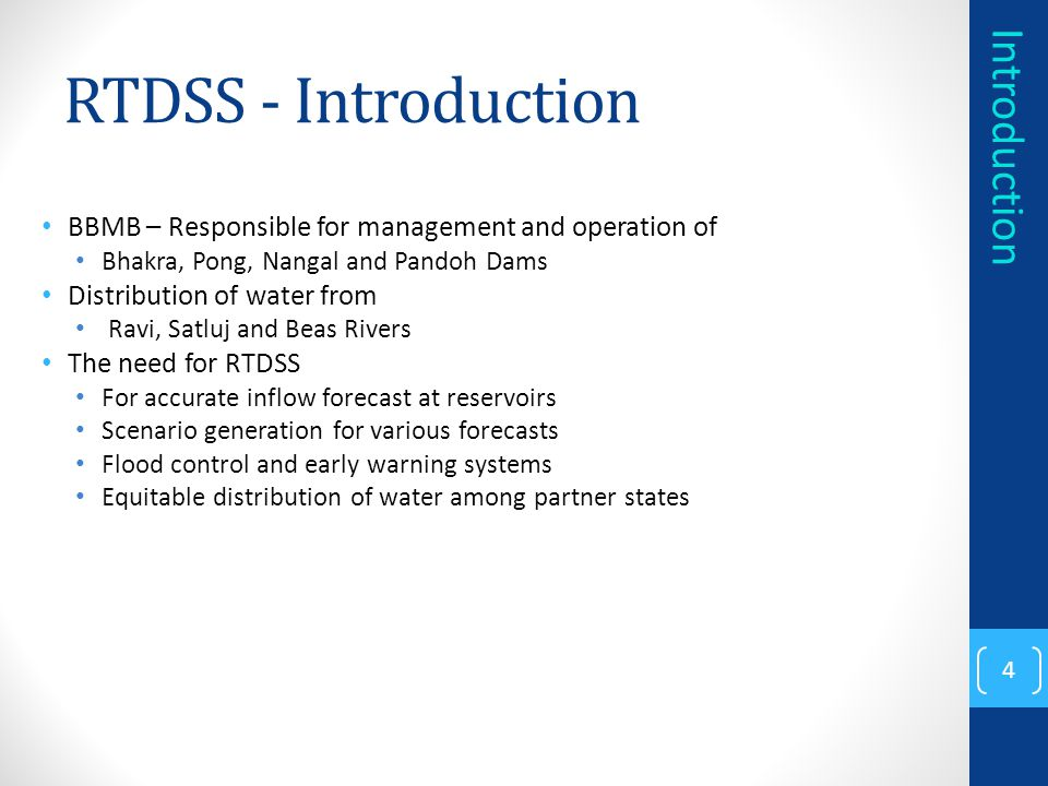 RTDSS - Introduction Introduction