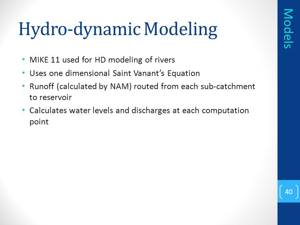 Hydro-dynamic Modeling