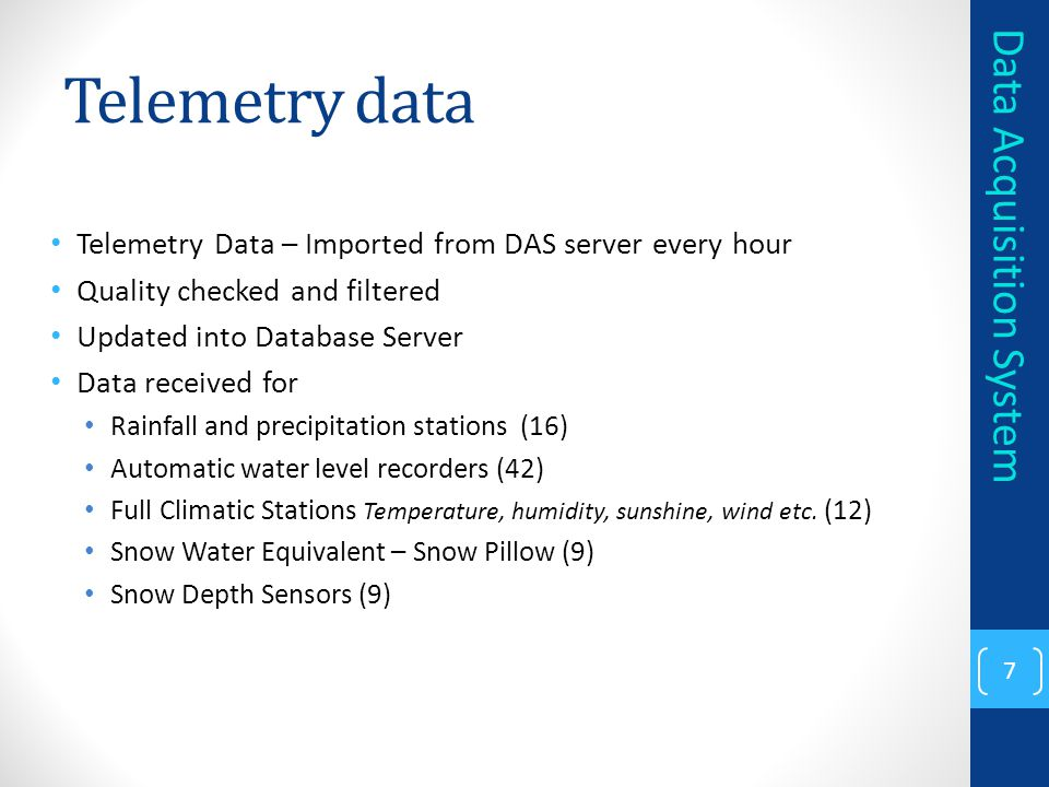 Telemetry data Data Acquisition System