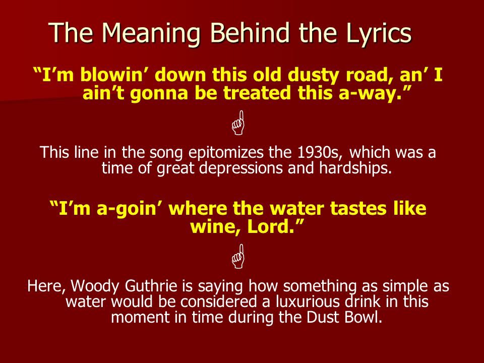The Meaning Behind the Lyrics