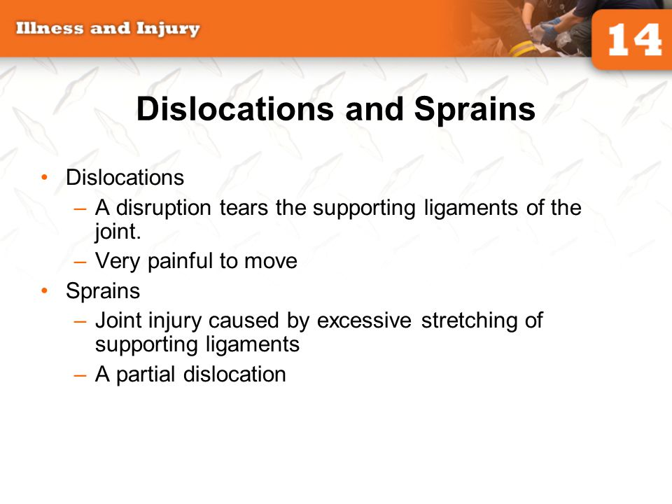 Dislocations and Sprains