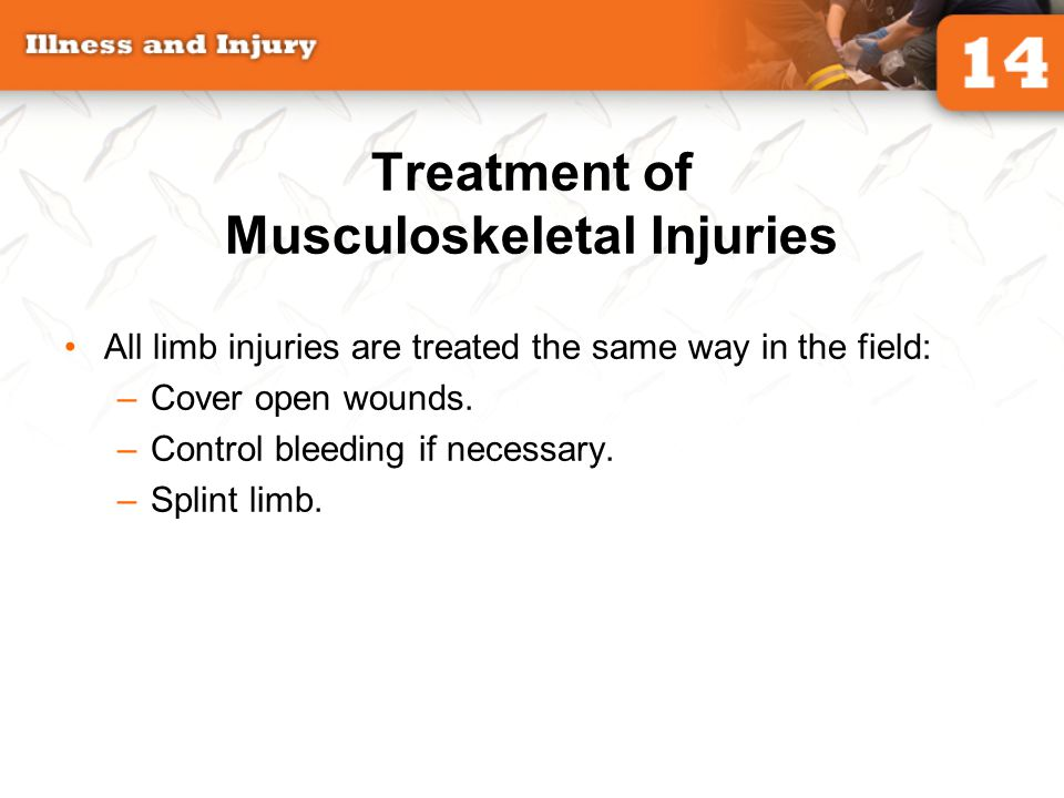 Treatment of Musculoskeletal Injuries