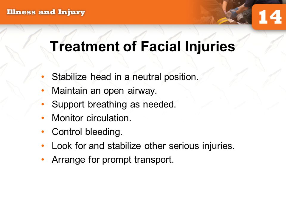 Treatment of Facial Injuries