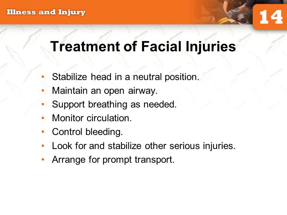 Treatment of Facial Injuries