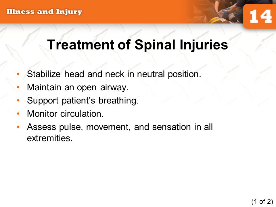 Treatment of Spinal Injuries