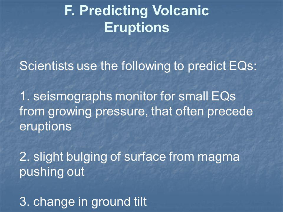 F. Predicting Volcanic Eruptions