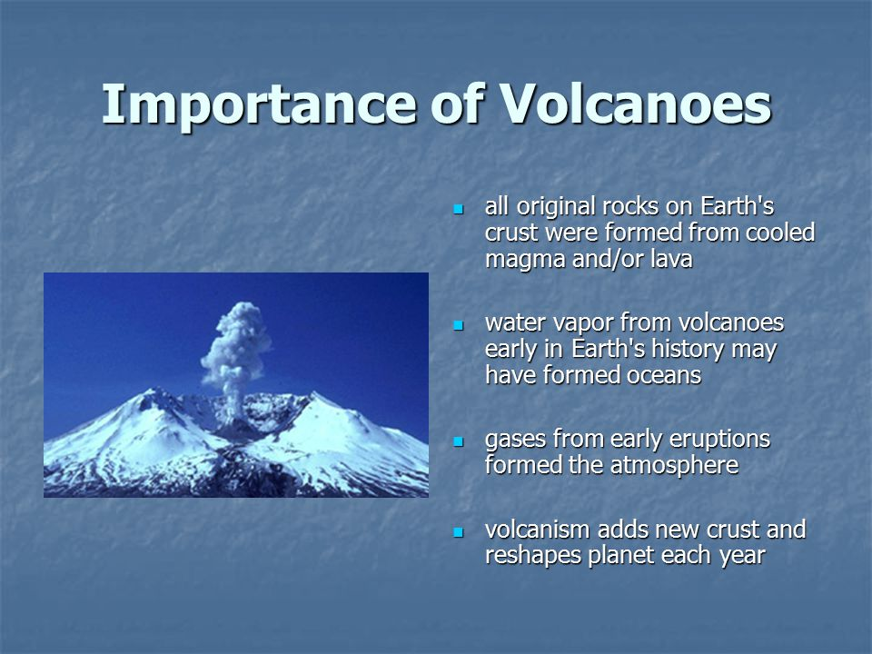 Importance of Volcanoes