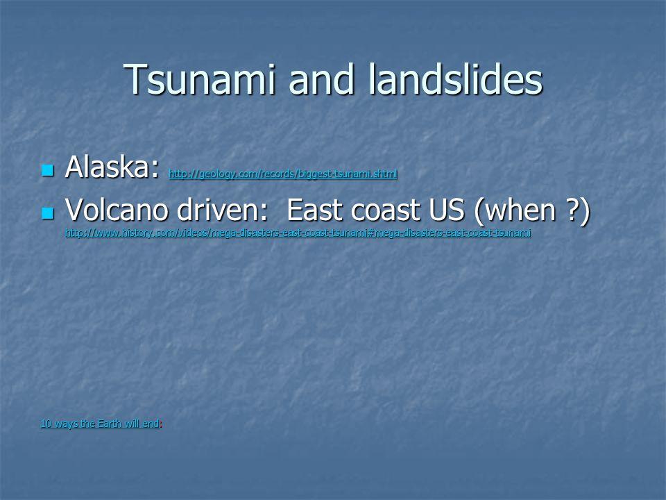 Tsunami and landslides