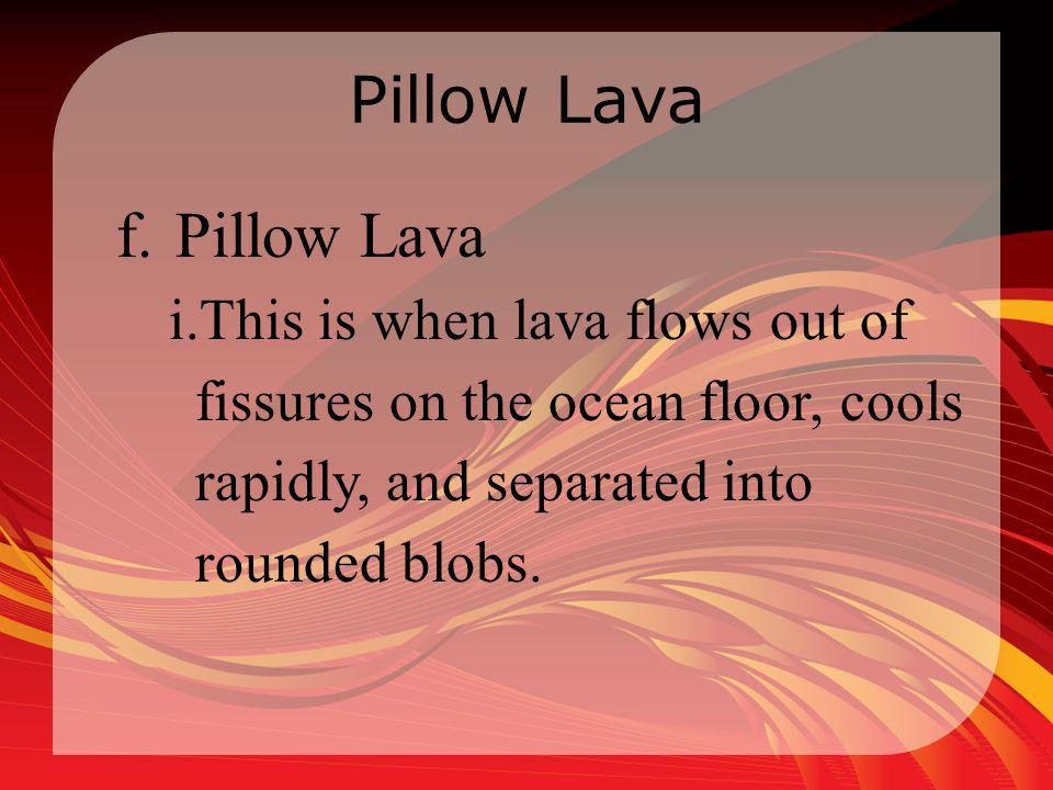 Pillow Lava Pillow Lava