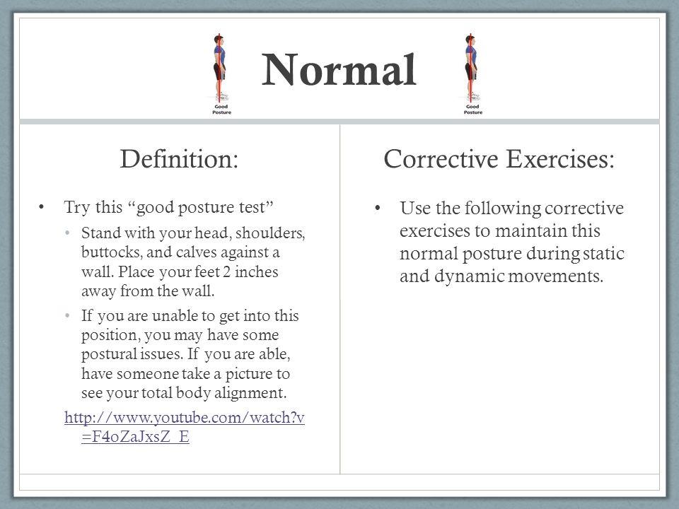 Corrective Exercises: