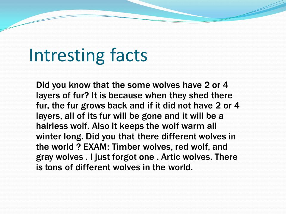 Intresting facts