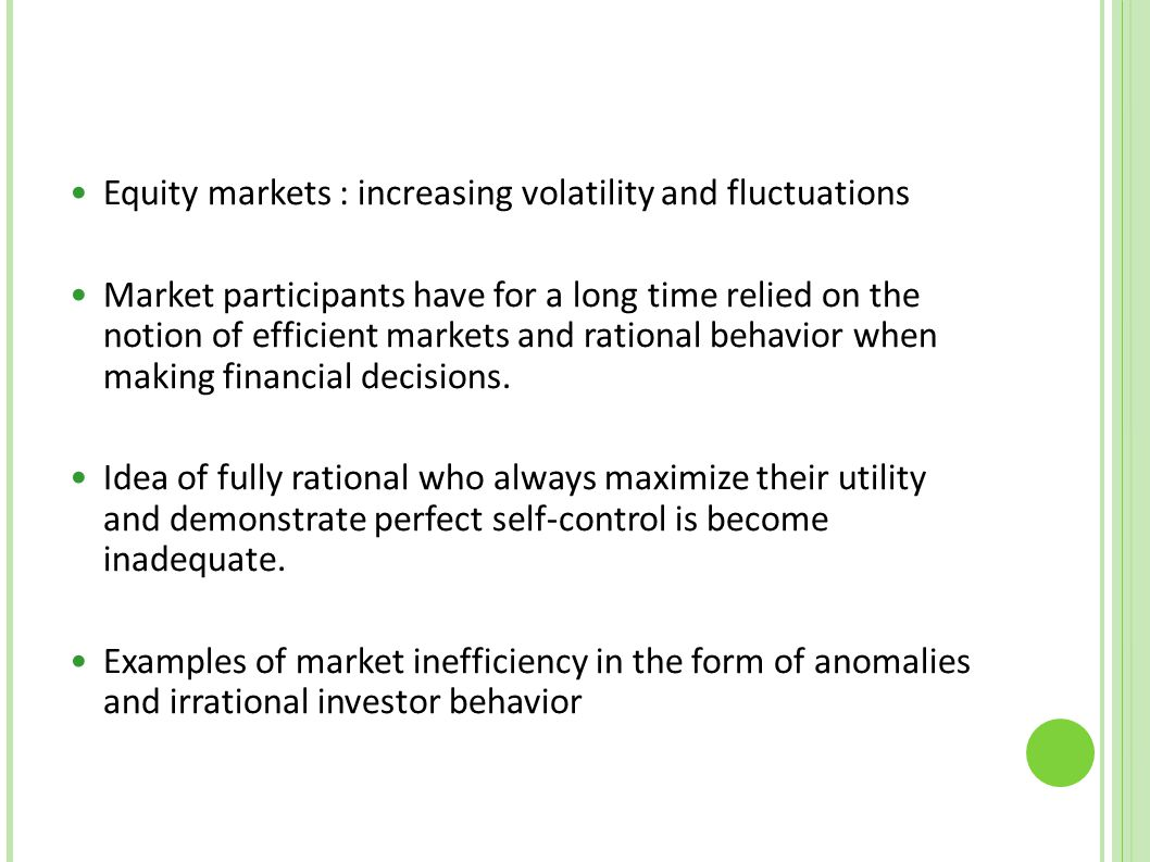 Equity markets : increasing volatility and fluctuations