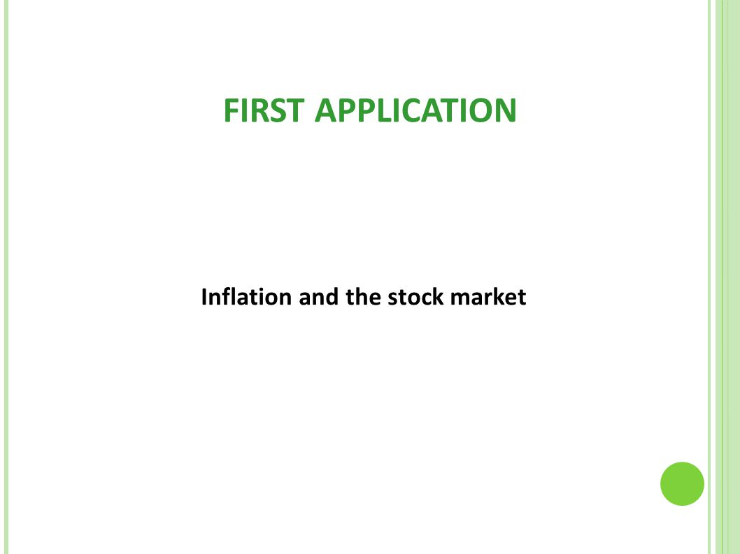 Inflation and the stock market