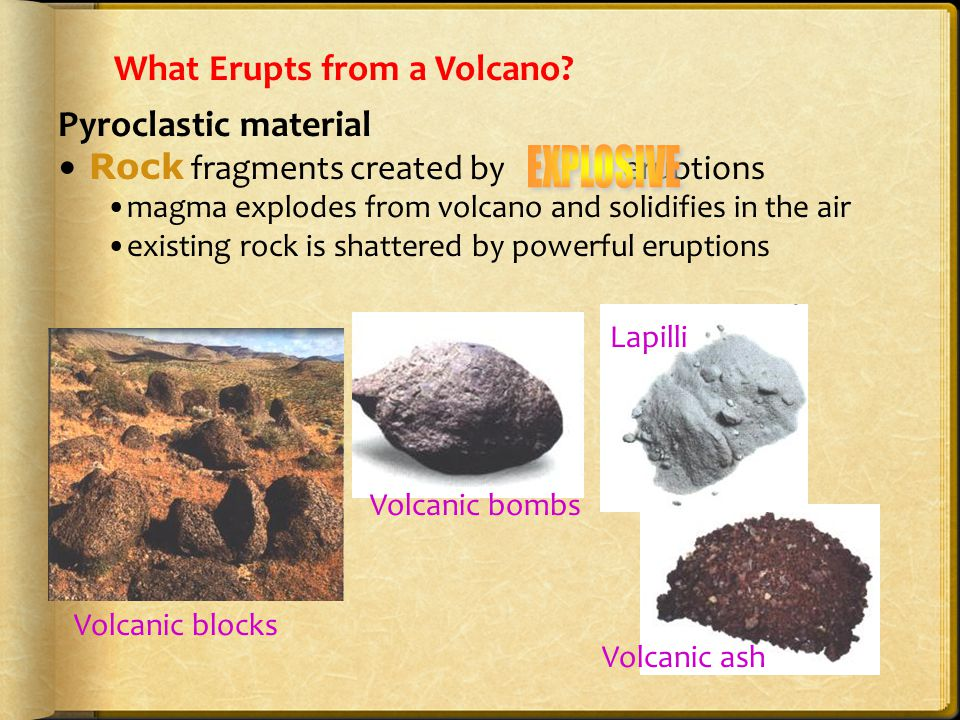 What Erupts from a Volcano