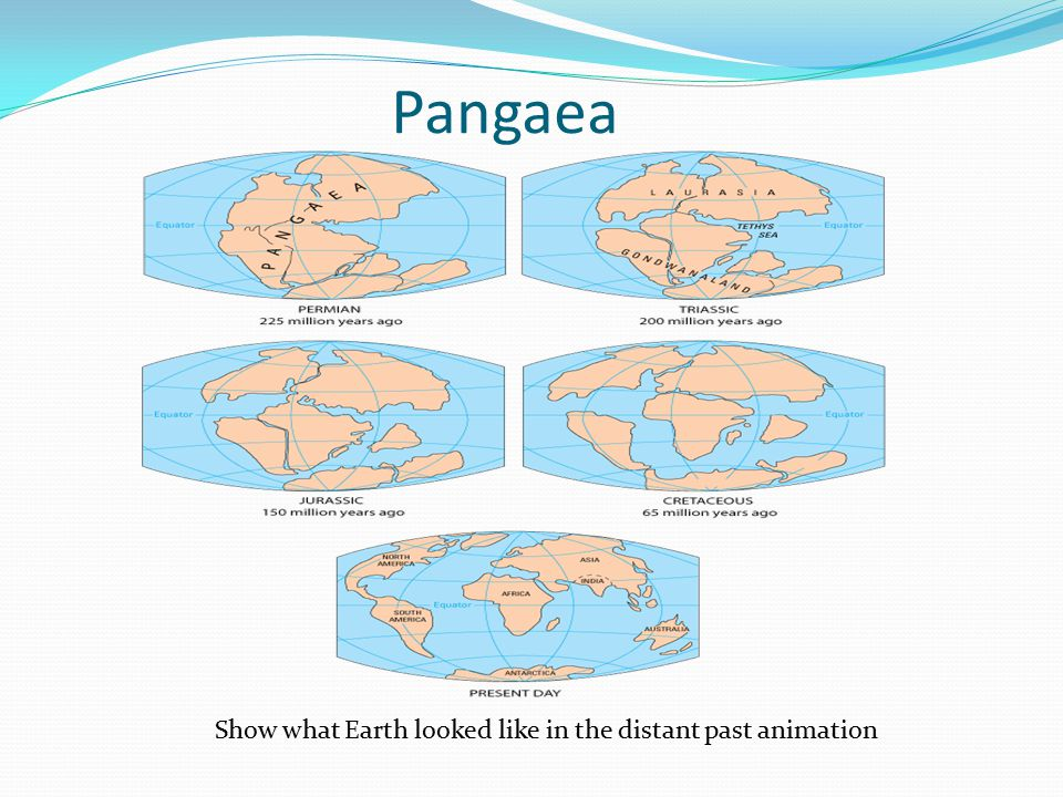 Pangaea Show what Earth looked like in the distant past animation