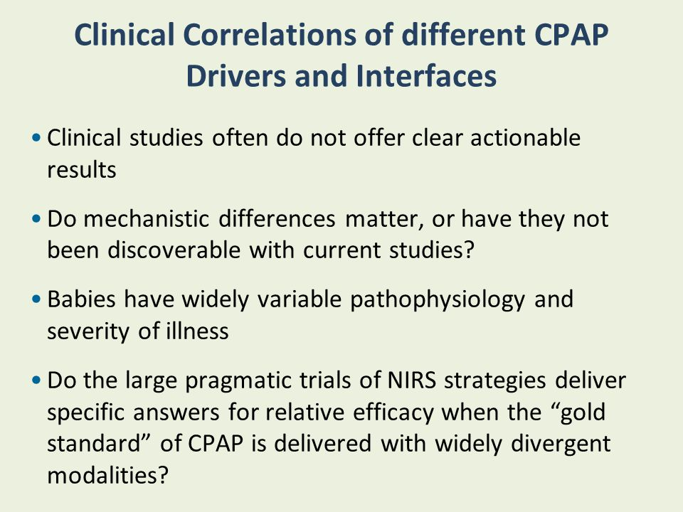 Clinical Correlations of different CPAP Drivers and Interfaces