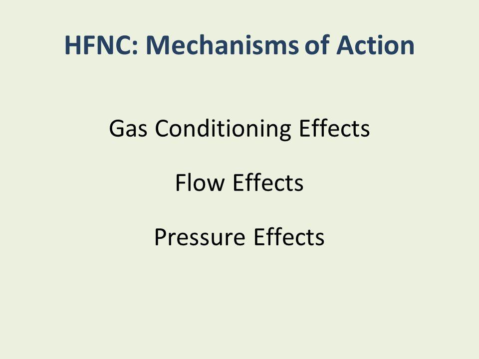 HFNC: Mechanisms of Action
