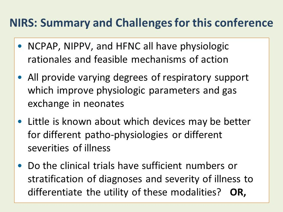 NIRS: Summary and Challenges for this conference