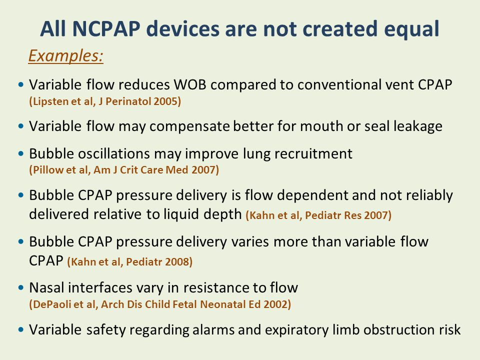 All NCPAP devices are not created equal