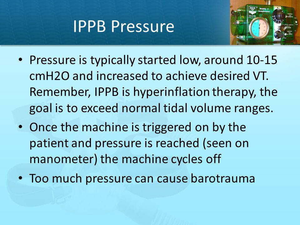 IPPB Pressure