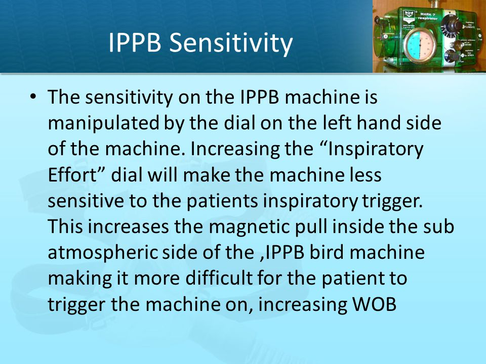 IPPB Sensitivity