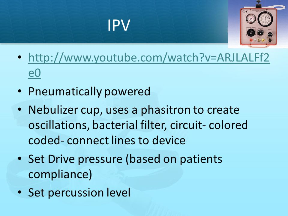 IPV http://www.youtube.com/watch v=ARJLALFf2e0 Pneumatically powered