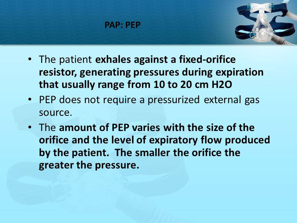 PEP does not require a pressurized external gas source.